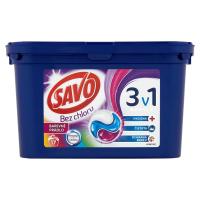 SAVO Bez chloru Color 3v1 Prací kapsle na barevné prádlo 17 pracích dávek