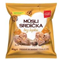 SEMIX Müsli srdíčka bez lepku medová se semínky 50 g