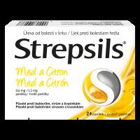 STREPSILS Med a citron 0,6 mg 24 pastilek