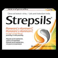STREPSILS Pomeranč s vitamínem C 24 pastilek