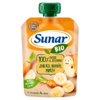 SUNAR Kapsička 100% ovoce Jablko, banán, mrkev BIO 100 g