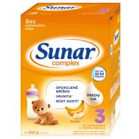 3 ks SUNAR Complex 3 Banán Pokračovací batolecí mléko od 12. měsíců 600 g = SLEVA