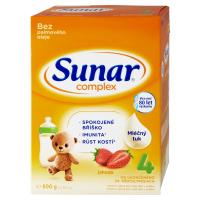 3 ks SUNAR Complex 4 Jahoda Pokračovací batolecí mléko od 24 měsíců 600 g = SLEVA