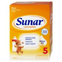 3 ks SUNAR Complex 5 Pokračovací mléko pro malé děti od 36 měsíců 600 g = SLEVA