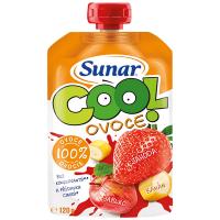 SUNAR Cool Ovocná kapsička Jahoda Banán Jablko od 12.měsíce 120 g