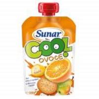 SUNAR Cool Ovocná kapsička Pomeranč Banán Sušenka od 12.měsíce 120 g