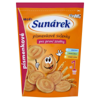 SUNÁREK Dětské sušenky pro první zoubky Písmenkové 150 g