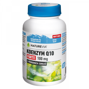 SWISS NATUREVIA Koenzym Q10 Forte 100 mg 60 kapslí