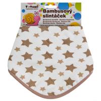 T-TOMI BIO Bambusový slintáček, Béžové hvězdičky