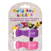 T-TOMI Kočárkový kolíček růžová + fialová 2 kusy