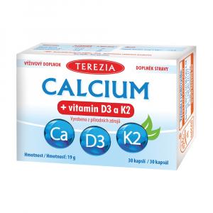 TEREZIA CALCIUM + vitamin D3 a K2 30 kapslí