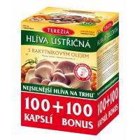 TEREZIA Hlíva ústřičná s rakytníkovým olejem 100 +100 kapslí ZDARMA