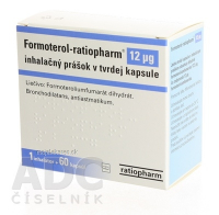 FORMOTEROL-RATIOPHARM 12 MCG INH CPS 60X12RG+APL