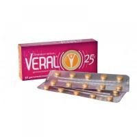 VERAL 25 mg por.tbl.ent.30 tablet