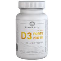 PHARMA ACTIV Vitamin D3 forte 2000 I.U. 100 tablet