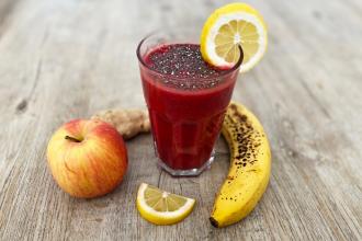 Vitamínová bomba: smoothie s chia semínky a Goji juicem