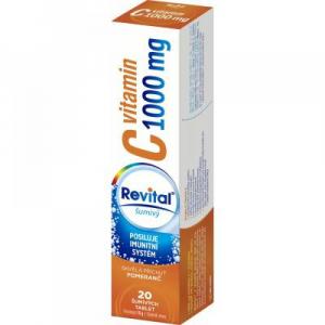 REVITAL Vitamin C pomeranč 1000 mg 20 šumivých tablet