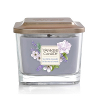 YANKEE CANDLE Classic malá hranatá Svíčka Sea Salt & Lavender 96 g