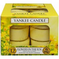 YANKEE CANDLE Flowers In The Sun čajové svíčky 12x 9,8 g