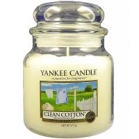 YANKEE CANDLE Classic střední Svíčka 411 g, Vůně: Clean Cotton