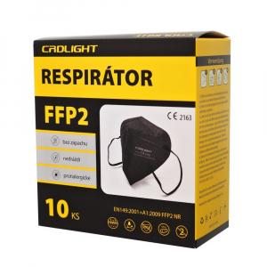 FFP2 Respirátor 10 ks Černý