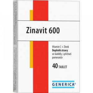GENERICA Zinavit 600 pomeranč 40 žvýkací tablety