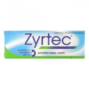 ZYRTEC Kapky, roztok 10 mg 20 ml