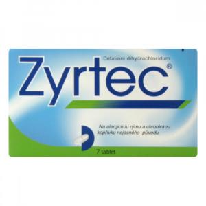 ZYRTEC 10 mg 7 potahovaných tablet